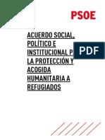 Propuesta del PSOE para la crisis de refugiados