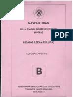 Soal UMPN 2013 Polsri (Rekayasa)