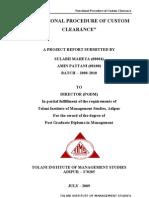 Summer Report on Import Export Procedure