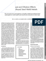 Heat Input and Dilution Effects in Microalloyed Steel Weld Metals