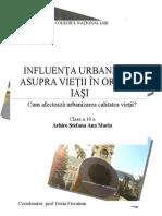 Influenţa Antropizării Asupra Vieţii Locuitorilor Oraşului Iaşi