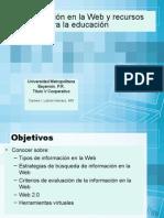 La información en la Web y recursos virtuales