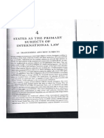 Cassese, Chapter 4 States as Primary Subjects