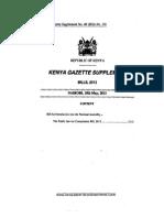 The Public Service Commission Bill 2012