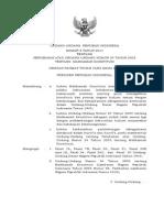 UU No 8 Tahun 2011 Tentang Perubahan Atas Undang Undang No 24 Tentang MK