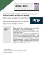 Incidencia de flebitis secundaria por cate´ter venoso de acceso
