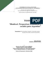 Biodiesel - Perspectivas Economicas y Sociales Para Argentina (Publicacion)