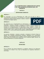 Reglamento Para La Construccion y Operacion de Plantas de Distribucion de Gas Licuado de Petroleo (Glp)