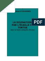 E. Chavannes - La divination par l'écaille de tortue