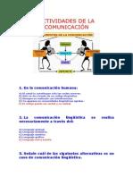 Actividades de La Comunicación