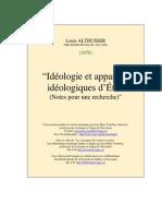 Althusser Ideologie Etat 1970