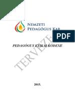 NPK Etikai Kódex Végleges Tervezet