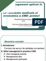 Management Aplicat in CMD Curs Rezid Paro