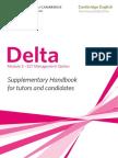 Delta Module Three ELT Management Option Supplementary Handbook 2011
