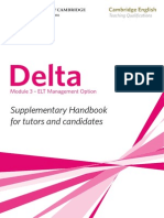 Delta Module Three ELT Management Option Supplementary Handbook 2011