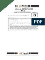 JEE Main 2013 Paper 1