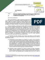 Carta a Presidente Del Congreso - No al recorte de Cerros de Amotape