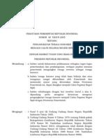 Peraturan Pemerintah Republik Indonesia