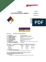 M.S.D.S VIGENTE P 340. Limpia Vidrios sapolio