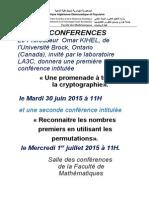 Conferences Du Professeur Omar Kihel
