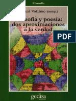 Vattimo, Gianni - Filosofía y Poesía Dos Aproximaciones a La Verdad