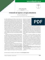 Protocolo de Ingreso a Cirugia Ambulatoria