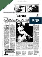 ENTREVISTA Com João Cabral de Melo Neto