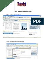 Como Inserir Um Documento Num Blog?