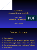 THEME 1 Efficacite Des Marches Concurrentiels(1)