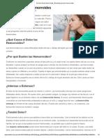 El Dolor de Las Hemorroides _ Remedios Para Las Hemorroides