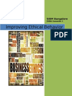 Improving Ethical Behavior