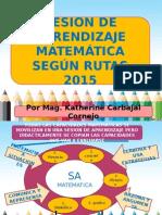 Sesionde Aprendizaje Rutas 2015 Inicial