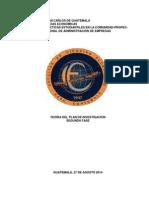 Teoria  del Plan  de  Investigación  (L) seg unda fase 2015(1)
