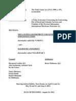 Dalhousie Arb Decision August 2015