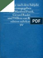 1988 Die Frage Nach Dem Subjekt_BOOK