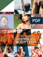 Informe de Gestión 2012 Bodytech