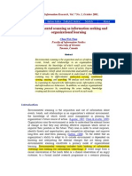 Environmental Scanning as Information Seeking Organizational Learning