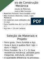 Materiais de Construção Mecânica