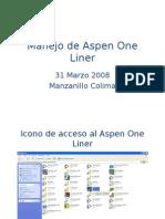 Manejo de Aspen One Liner Sesion Lunes