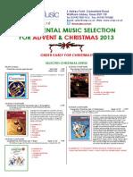 Christmas Instrumental Selection 2013