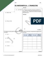 Examen Trimestral de Mat. - 2do Secundaria(Simon Bolivar)