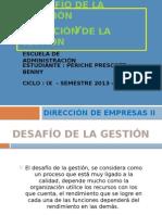 TRABAJO N° 02.- EL DESAFÍO DE LA GESTIÓN  Y LA EVOLUCIÓN DE LA GESTIÓN