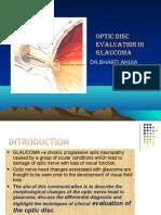 Optic Disc Evaluation in Glaucoma