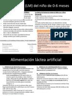 ALIMENTACION pediatría