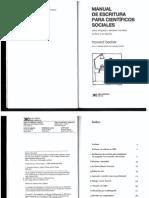 Becker, Howard (2012(1986)) Manual de Escritura Para Científicos Sociales. Buenos Aires Siglo XXI