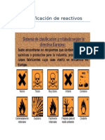 Clasificacion de reactivos y Ficha T. limon