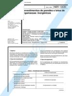 NBR 13530 - Revestimento de Paredes e Tetos de Argamassas Inorganicas