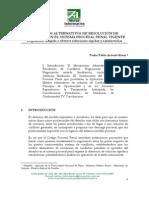 Los Medios Alternativos de Solucion de Conflictos en El Nuevo Sistema Procesal Penal