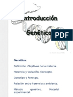 Introduccion a La Genetica