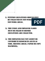 Union Decertification Petition